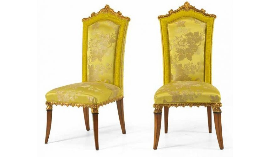 DINING ROOM FURNITURE Luxurious Ginger and Lime Dining Room Chair