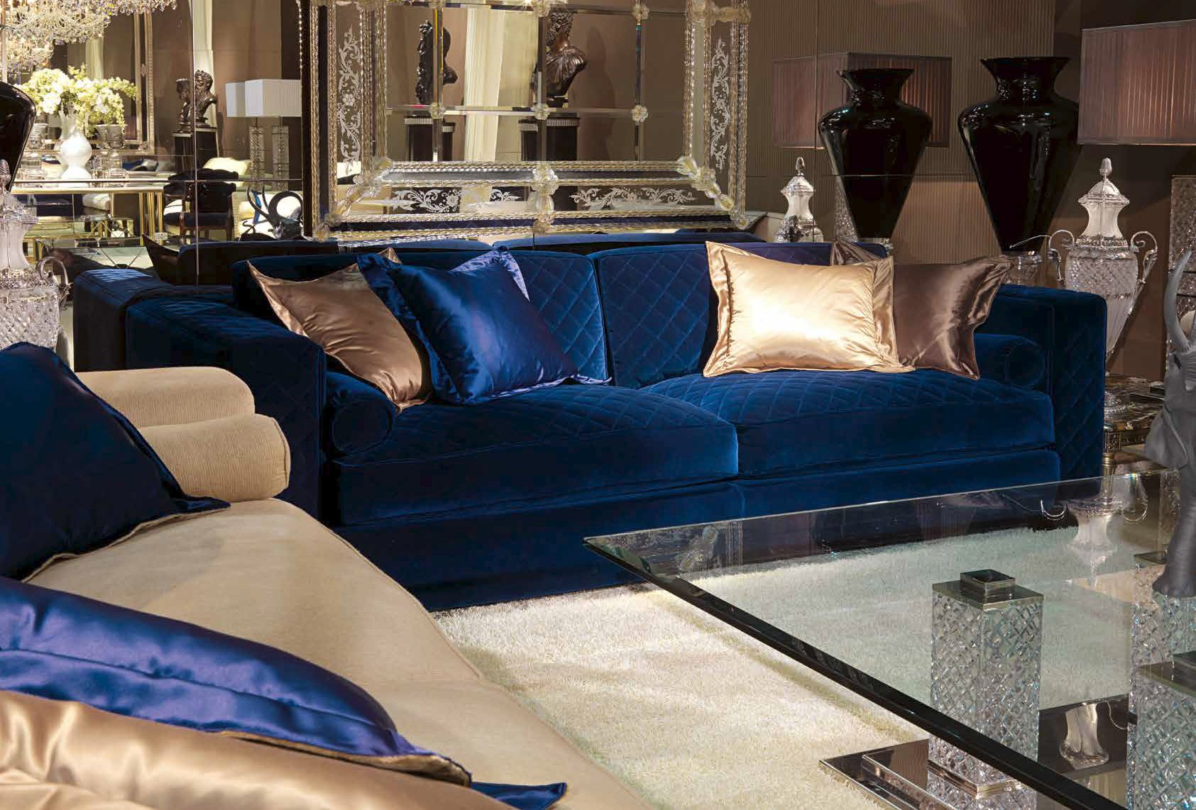 High End Ultramarine Living Room Furniture Set