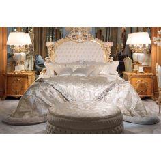 Elegant Forest Silver Snow Bedroom Furniture Set