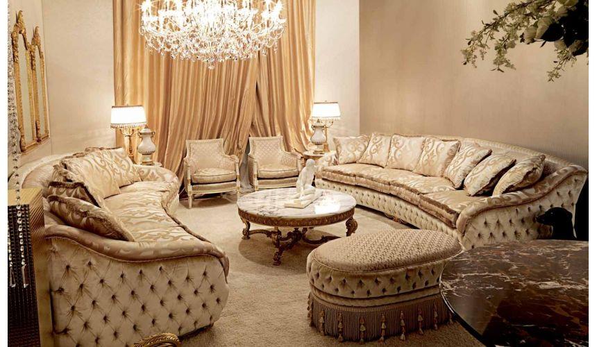 Elegant Plush Living Room Furniture Set, High End Furniture