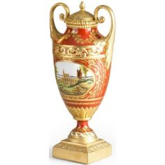 Clifton Vase with Gilded Handles
