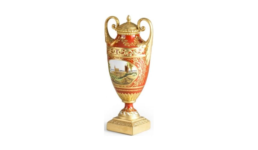 Decorative Accessories Clifton Vase with Gilded Handles
