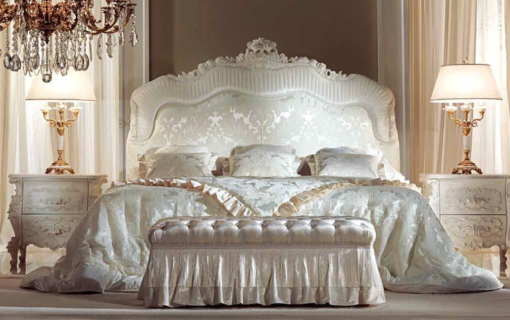 Queen And King Sized Beds Elegant White Dove Bedroom Furniture Set
