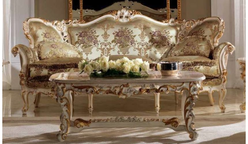 SOFA, COUCH & LOVESEAT Luxurious Sparkling Champagne and Flowers Furniture Set