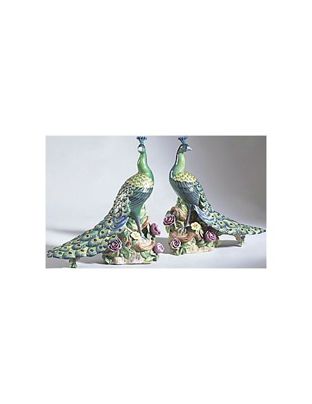 Decorative Accessories Beautiful Hand Painted Pair of Peacock