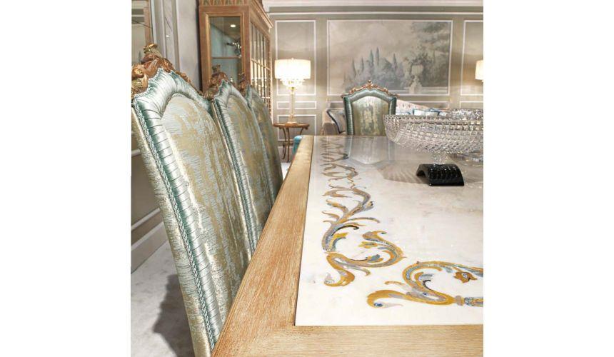 DINING ROOM FURNITURE Elegant Sea Foam and Drift Wood Dining Furniture Set