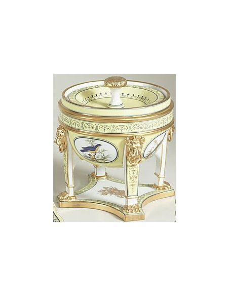 Decorative Accessories Sudbury Footed Urn in Gold Accents