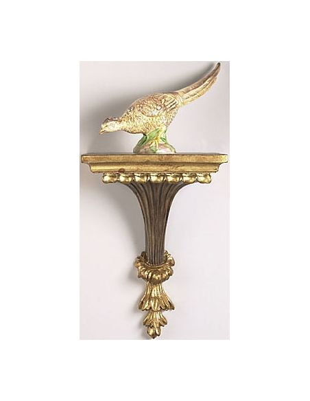 Decorative Accessories Gold n Green Birdie Chickwick Bracket