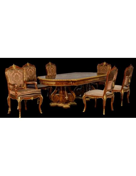 Dining Tables Dining Table with Detailed Images and Golden Patterns from our furniture showpiece collection. 7333
