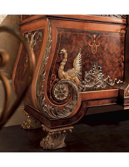 Breakfronts & China Cabinets Luxury furniture. Exquisite empire style dining display or china closet