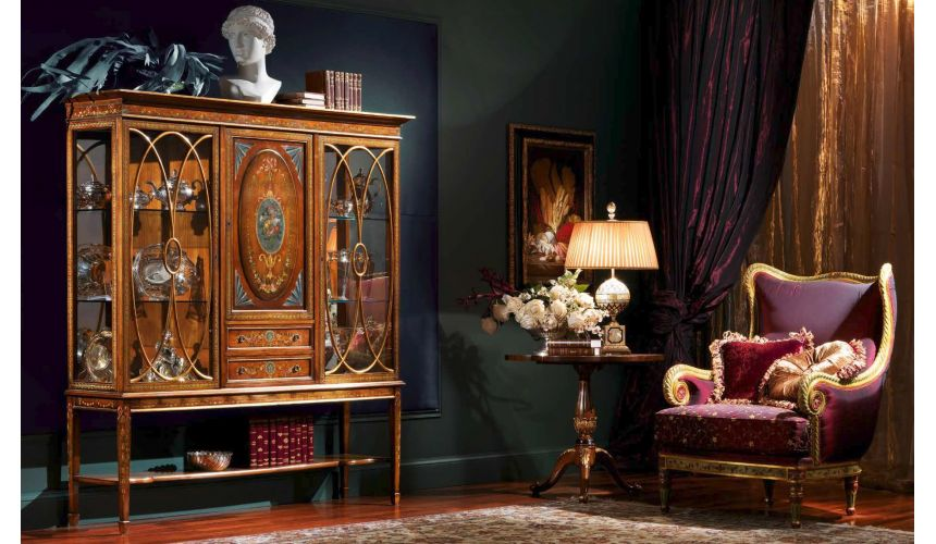 Display Cabinets and Armories Elegant Intellect's Nirvana Furniture Set