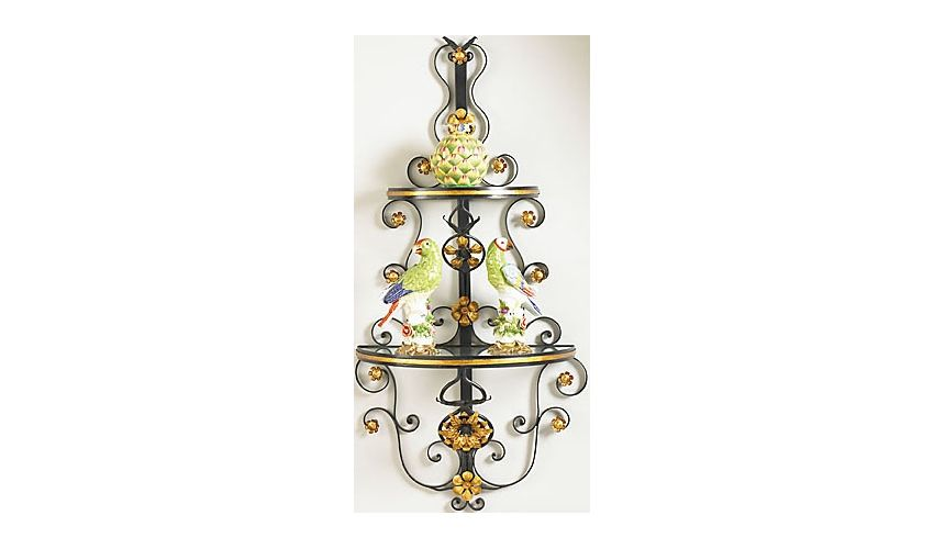 Decorative Accessories Mittman Metal Framed Wall Shelf