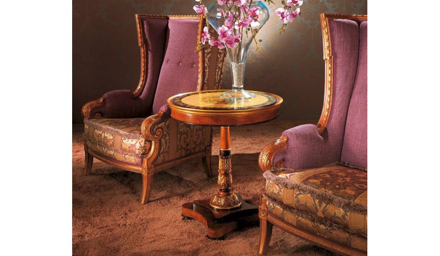CHAIRS, Leather, Upholstered, Accent Grand Feelings of Home Furniture Set