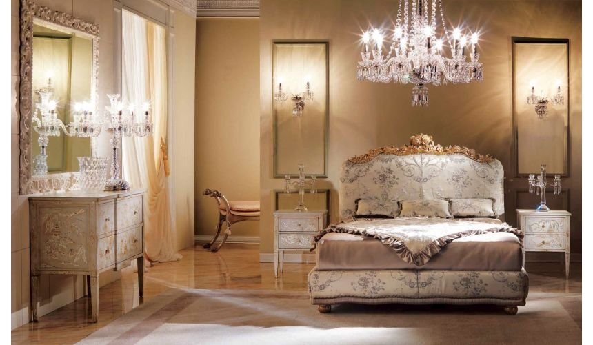 Queen and King Sized Beds Luxurious in Lavender Bedroom Furniture Set