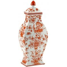 Hand painted Floral Vase with Lid