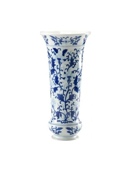 Decorative Accessories White Leaf Patterned Vase