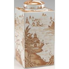 Canton Tea Caddy in Rustic Theme