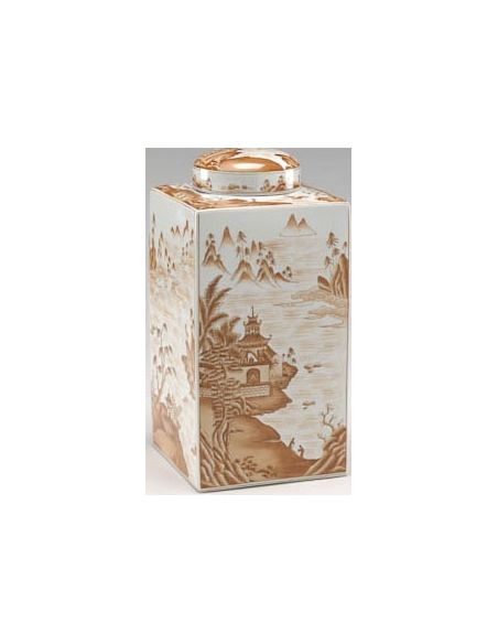 Decorative Accessories Canton Tea Caddy in Rustic Theme