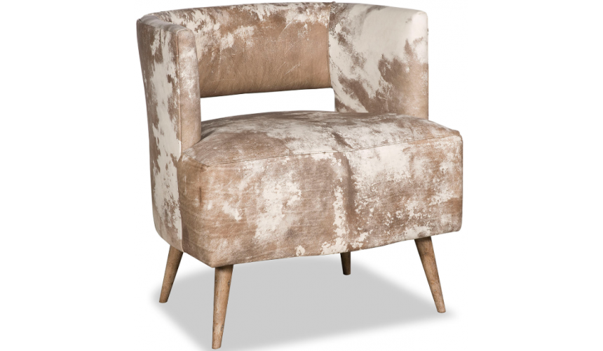 CHAIRS, Leather, Upholstered, Accent Luxurious in Golden Rose Accent Chair