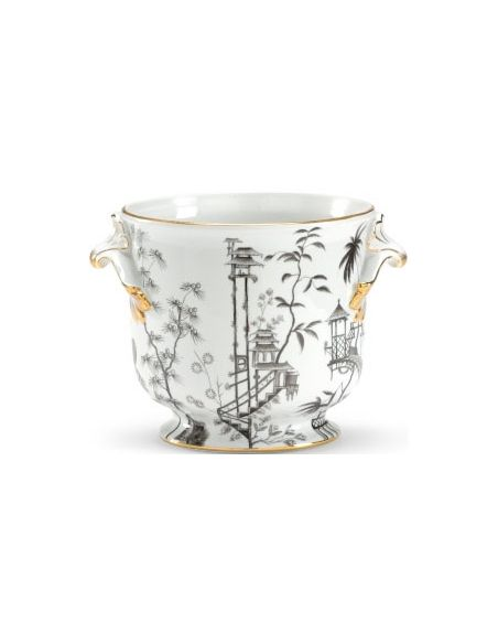 Decorative Accessories Monochrome Chinoisserie Vase