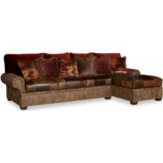 Luxurious Leather Patchwork Sofa Sectional
