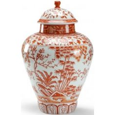 Floral Patterned Pumpkin Jar