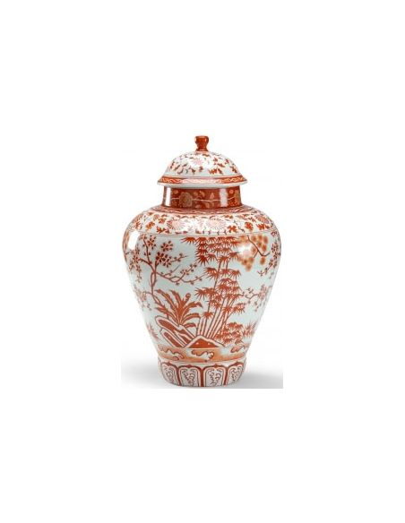 Decorative Accessories Floral Patterned Pumpkin Jar