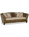 SOFA, COUCH & LOVESEAT Elegant Weathered Saddle Sofa