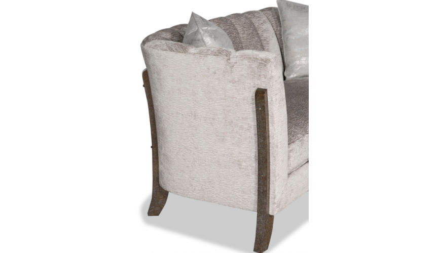 SOFA, COUCH & LOVESEAT Gorgeous Silver Shooting Star Sofa