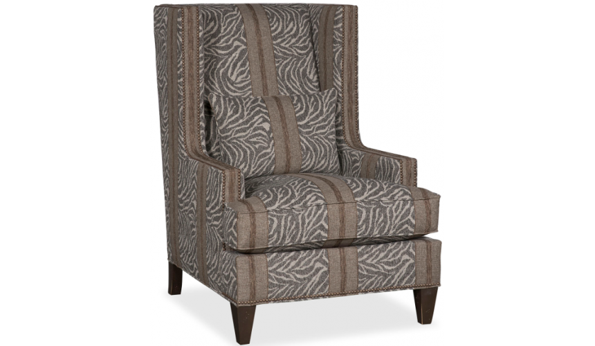CHAIRS, Leather, Upholstered, Accent Elegant Savanna Under Starlight Armchair