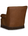 CHAIRS, Leather, Upholstered, Accent Classic and Flared Honey Brown Armchair