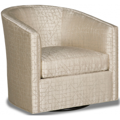 Elegant Silky Champagne Swivel Accent Chair