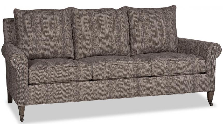 SOFA, COUCH & LOVESEAT Beautiful Shades of Chevron Sofa