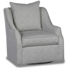 High End Impressionist's Perfection Swivel Armchair