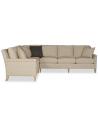 SECTIONALS - Leather & High End Upholstered Furniture Elegant Golden Cream Sofa