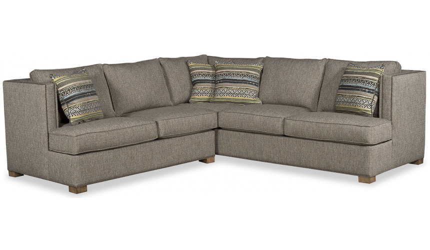 SECTIONALS - Leather & High End Upholstered Furniture Beautiful Woven Winter Slate Sofa