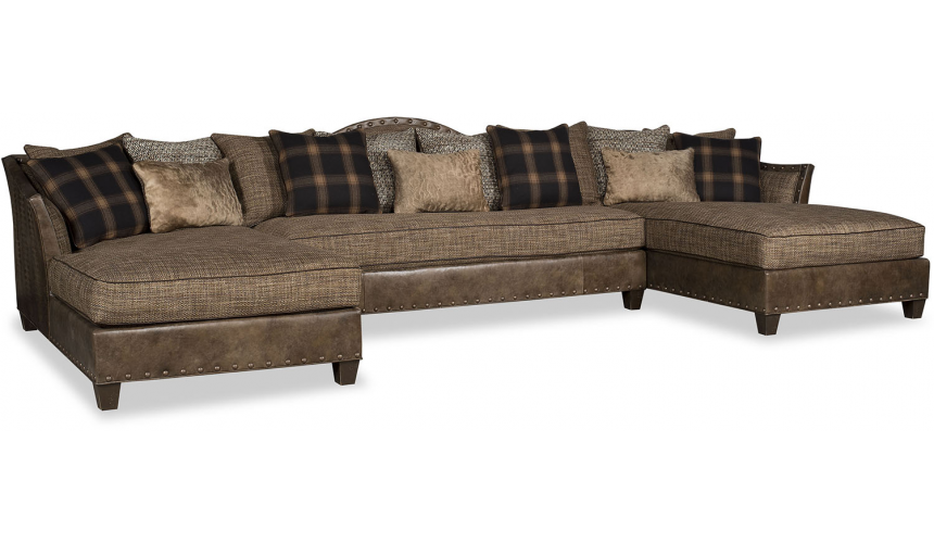 SECTIONALS - Leather & High End Upholstered Furniture Deluxe and Grand Winter's Game Sofa