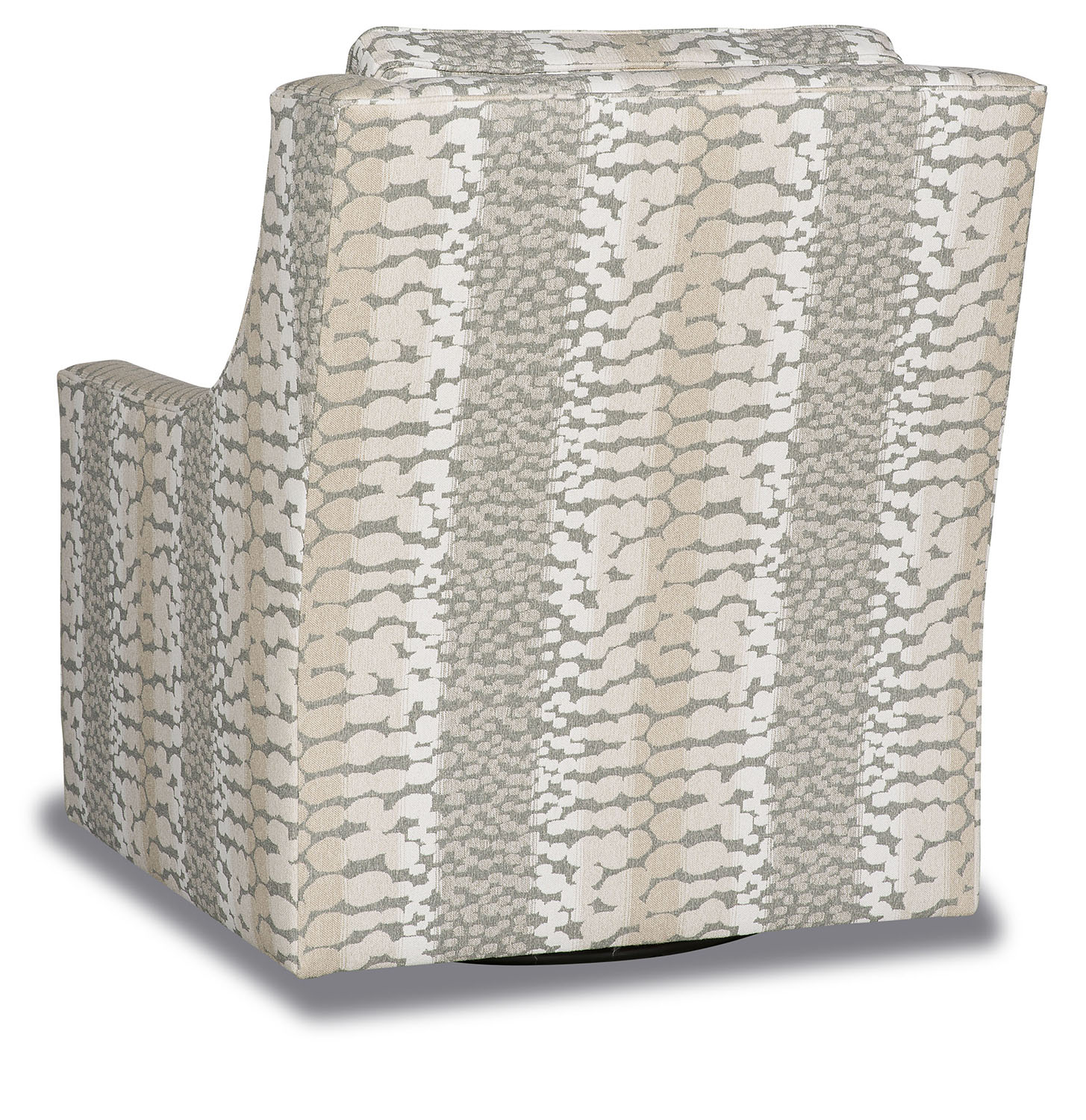 Deluxe Abstract Snow Leopard Swivel Armchair