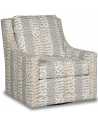 CHAIRS, Leather, Upholstered, Accent Deluxe Abstract Snow Leopard Swivel Armchair