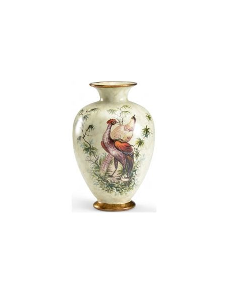 Decorative Accessories Pear Shaped Pheasant Vase