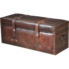 Trunk Style Leather Bench