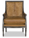 CHAIRS, Leather, Upholstered, Accent Deluxe Lone Doe in Winter Accent Chair