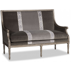 Beautiful Simplicity in Refined Charcoal Love Seat
