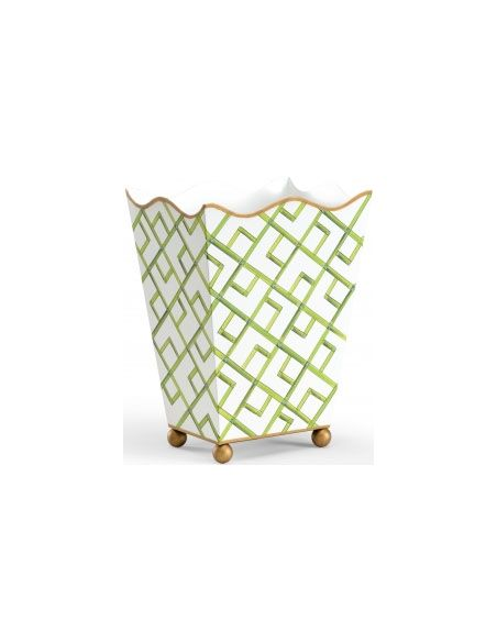 Decorative Accessories Bamboo Square Wastebasket