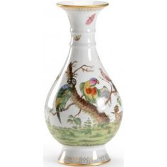 Colorful Hand Decorated Birdie Vase