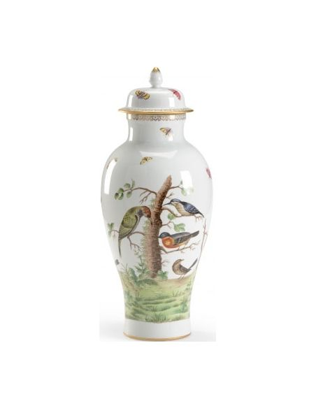 Decorative Accessories Hand Painted Birdie Urn