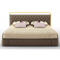 Elegant Sugar Plum and Champagne King Size Bed