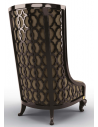 CHAIRS, Leather, Upholstered, Accent Breathtaking Castle Walls Armchair