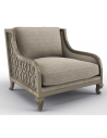 CHAIRS, Leather, Upholstered, Accent Deluxe Thunder Bird Wide Armchair
