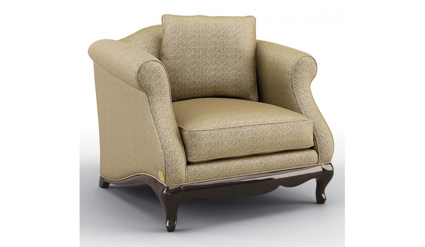 CHAIRS, Leather, Upholstered, Accent Luxurious 24 Karat Shine Armchair